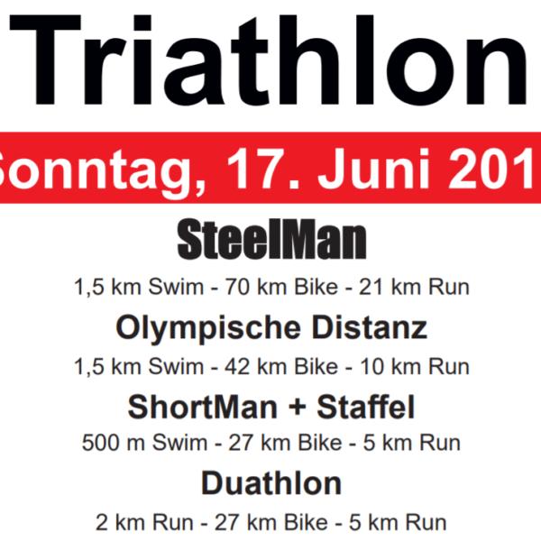 Uitslagen Steinbeck triathlon 2018